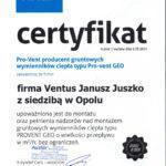 certyfikat Pro-Vent